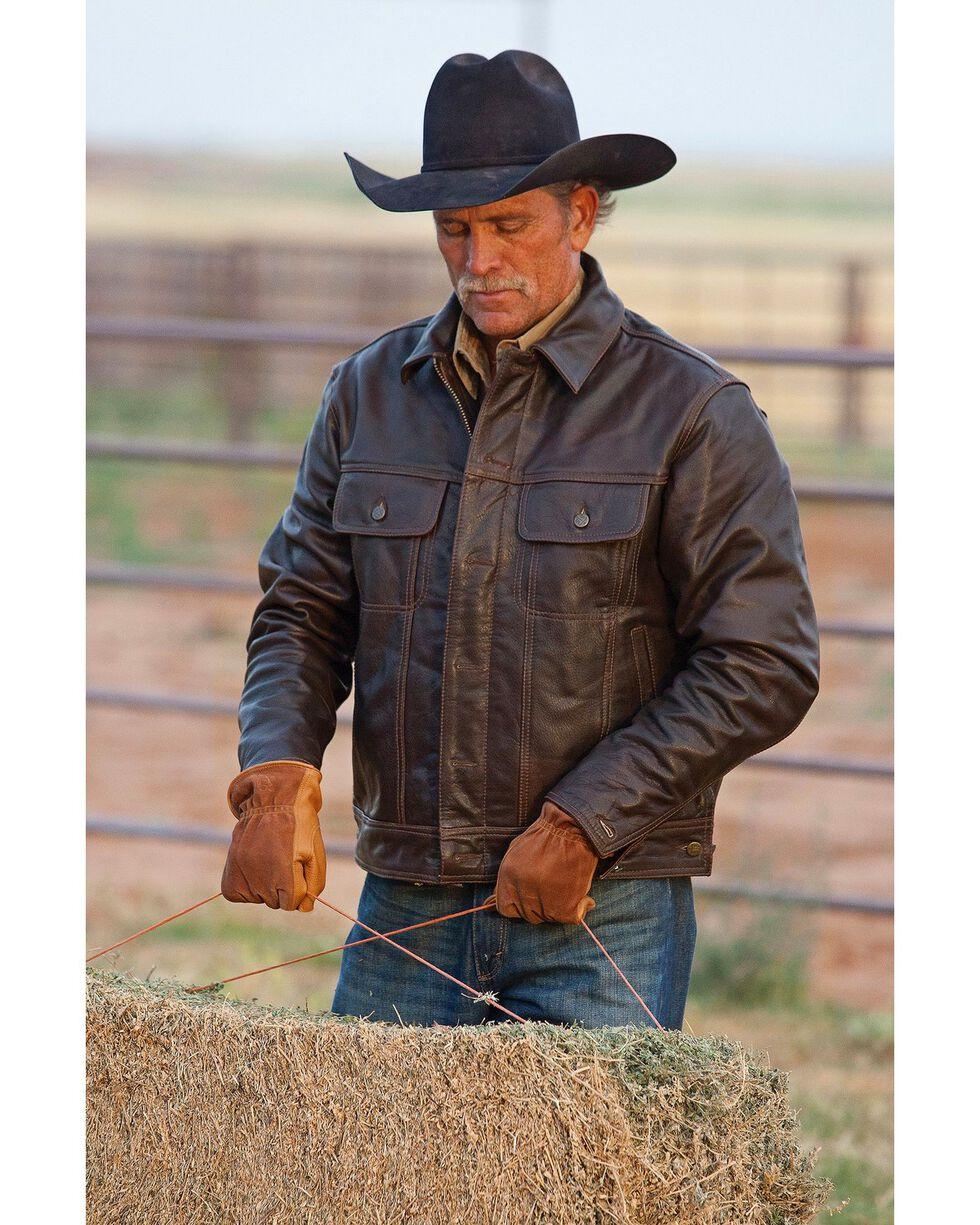 STS Ranchwear Men's Maverick Leather Jacket, Brown, hi-res