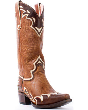 Lane Women's Back 40 Western Boots, Brown, hi-res