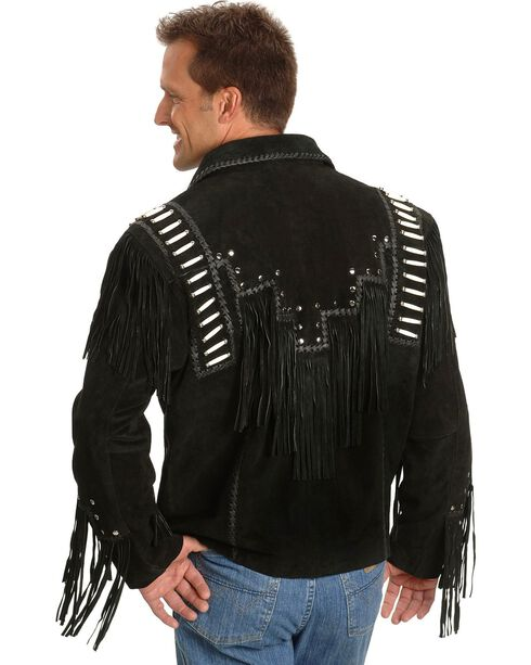 Liberty Wear Bone Fringed Leather Jacket - Big & Tall, , hi-res