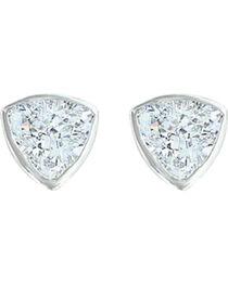 Montana Silversmiths Women's Treasured Trillion Sparkling Earrings, , hi-res