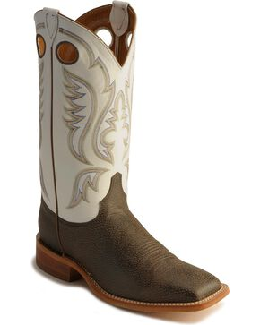 Justin Men's Bent Rail Collection Western Boots, Chocolate, hi-res