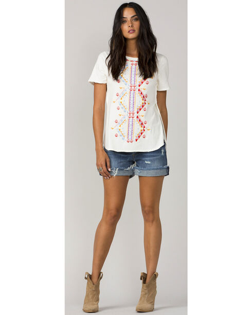 MM Vintage Women's White Reign Supreme Top , White, hi-res