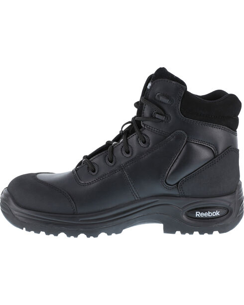 """Reebok Men's Trainex 6"""" Lace-Up Work Boots - Composite Toe, Black, hi-res"""