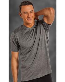 Rock and Roll Cowboy Men's Charcoal Grey V-Neck T-Shirt , , hi-res