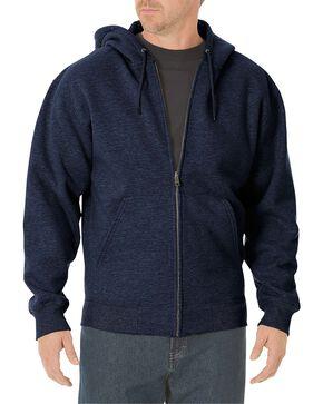 Dickies Midweight Fleece Zip-Up Hooded Work Jacket, Navy, hi-res