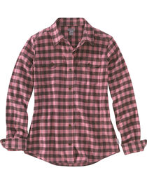 Carhartt Women's Plaid Button Down Flannel, , hi-res