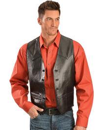 Scully Lamb Leather Vest - Big, Black, hi-res