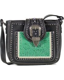 Montana West Women's Studded Buckle Concealed Carry Shoulder Bag, , hi-res