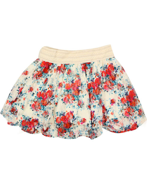 Shyanne® Girls' Floral Lace Skirt, Multi, hi-res