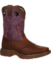 Durango Youth Plum Saddle Western Boots - Square Toe, , hi-res