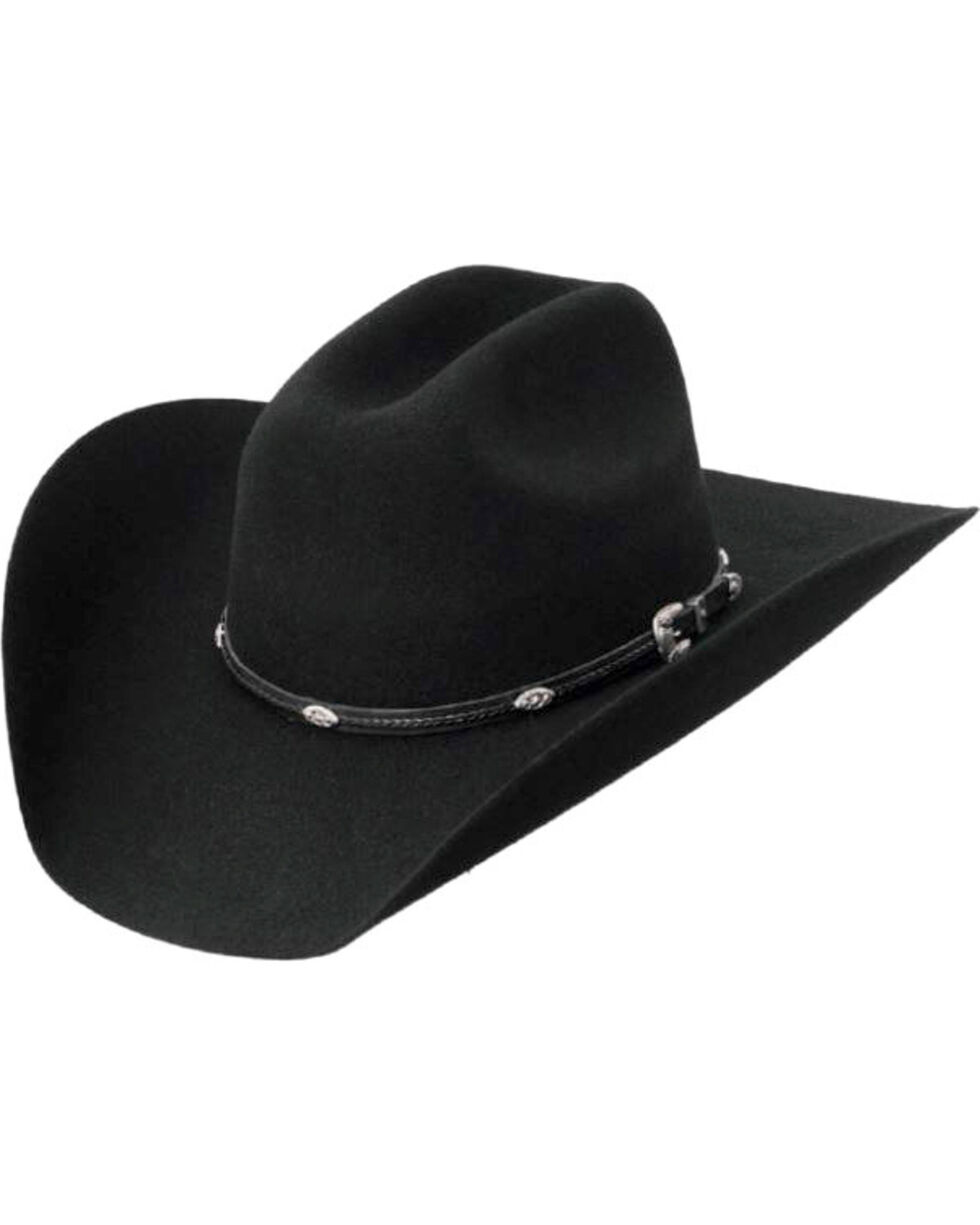 Master Hatters Men's Black Dawson 3X Wool Felt Cowboy Hat, Black, hi-res