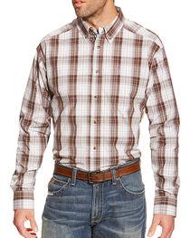 Ariat Men's Plaid Printed Long Sleeve Shirt, , hi-res
