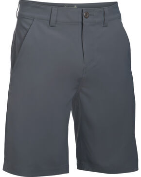 Under Armour Men's Fish Hunter Flat Front Shorts, Grey, hi-res