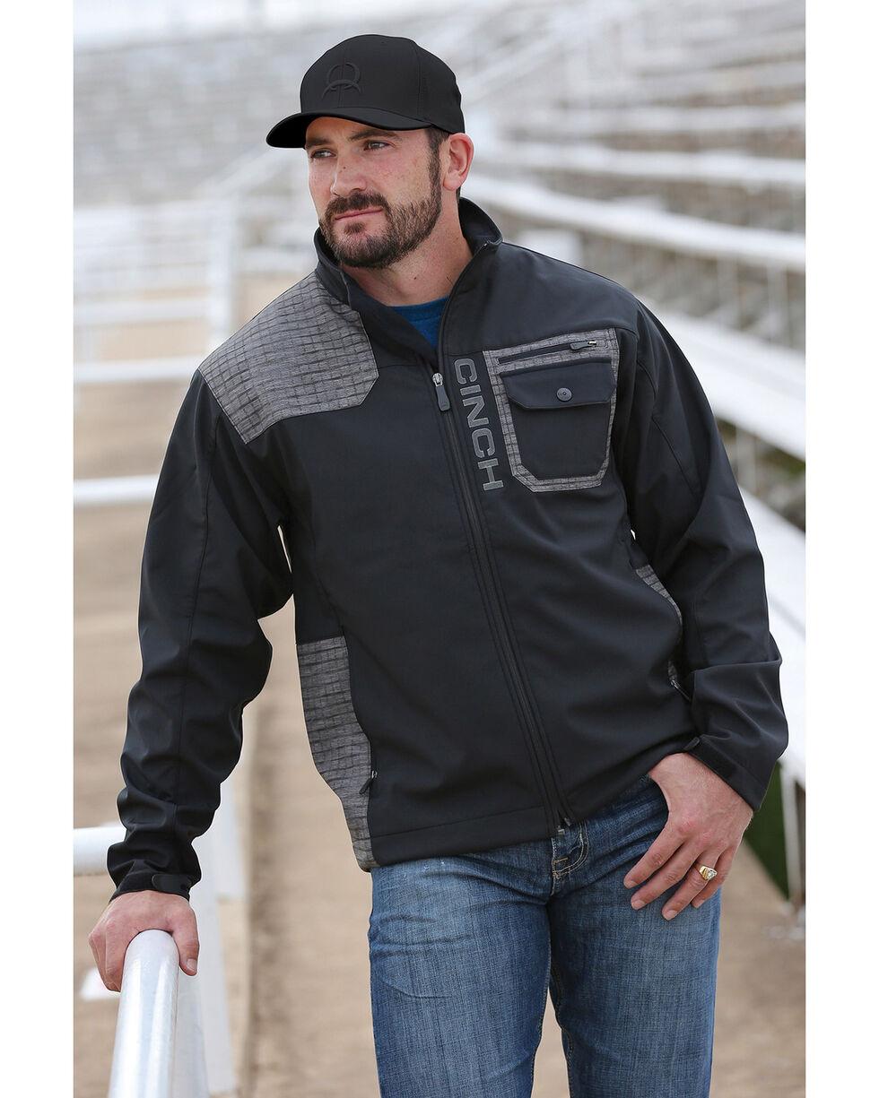 Cinch Men's Bonded Block Print Western Jacket, , hi-res