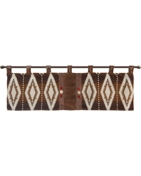 Carstens Pecos Trail Valance, Brown, hi-res