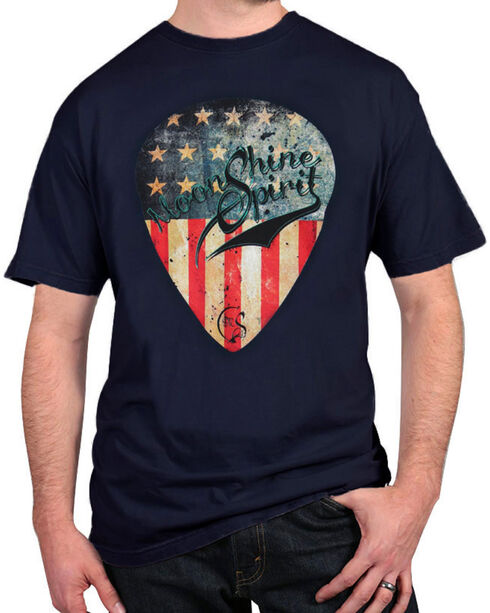 Moonshine Spirit® Men's American Guitar Pick Tee, Navy, hi-res
