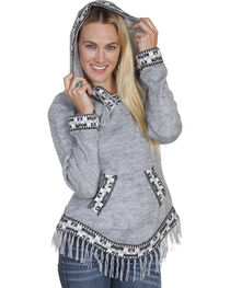 Scully Honey Creek European Alpaca Hooded Pullover Sweater, Grey, hi-res
