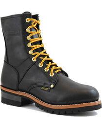 """Ad Tec Men's Logger 9"""" Work Boots, , hi-res"""