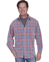 Scully Men's Yard Dye Corduroy Plaid Shirt, , hi-res