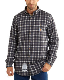 Carhartt Men's Flame Resistant Plaid Long Sleeve Shirt, , hi-res