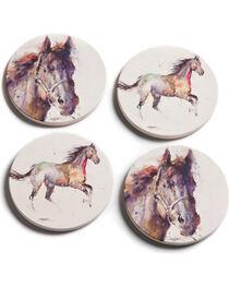 Big Sky Carvers Dean Crouser Horse Coasters, , hi-res