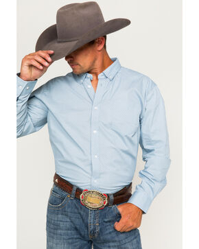 Cody James® Men's Button Down Long Sleeve Shirt, Blue, hi-res