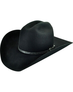 Bailey Men's Roderick 3X Premium Wool Felt Cowboy Hat, Black, hi-res