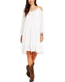 Ariat Women's White Open Shoulder Caliente Dress , , hi-res