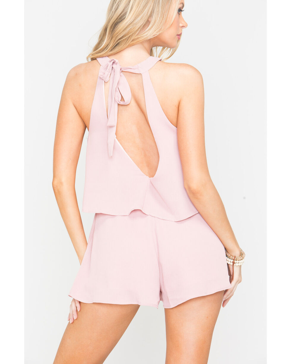 Sage the Label Women's Playa Romper , Mauve, hi-res