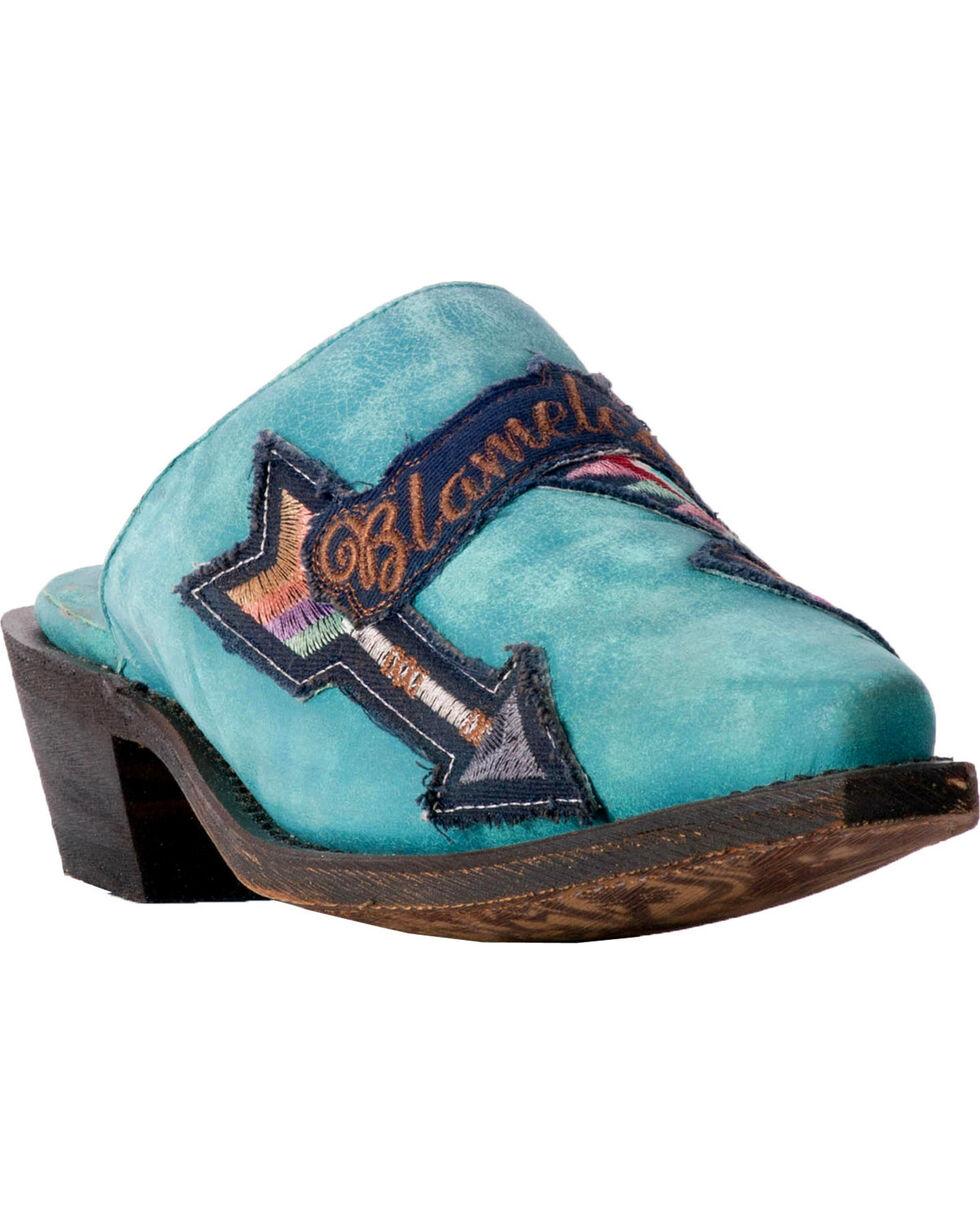 Laredo Women's Boho Blameless Turquoise Mules - Snip Toe, Turquoise, hi-res