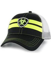 Ariat Men's Neon Logo Snap Back Ball Cap, , hi-res