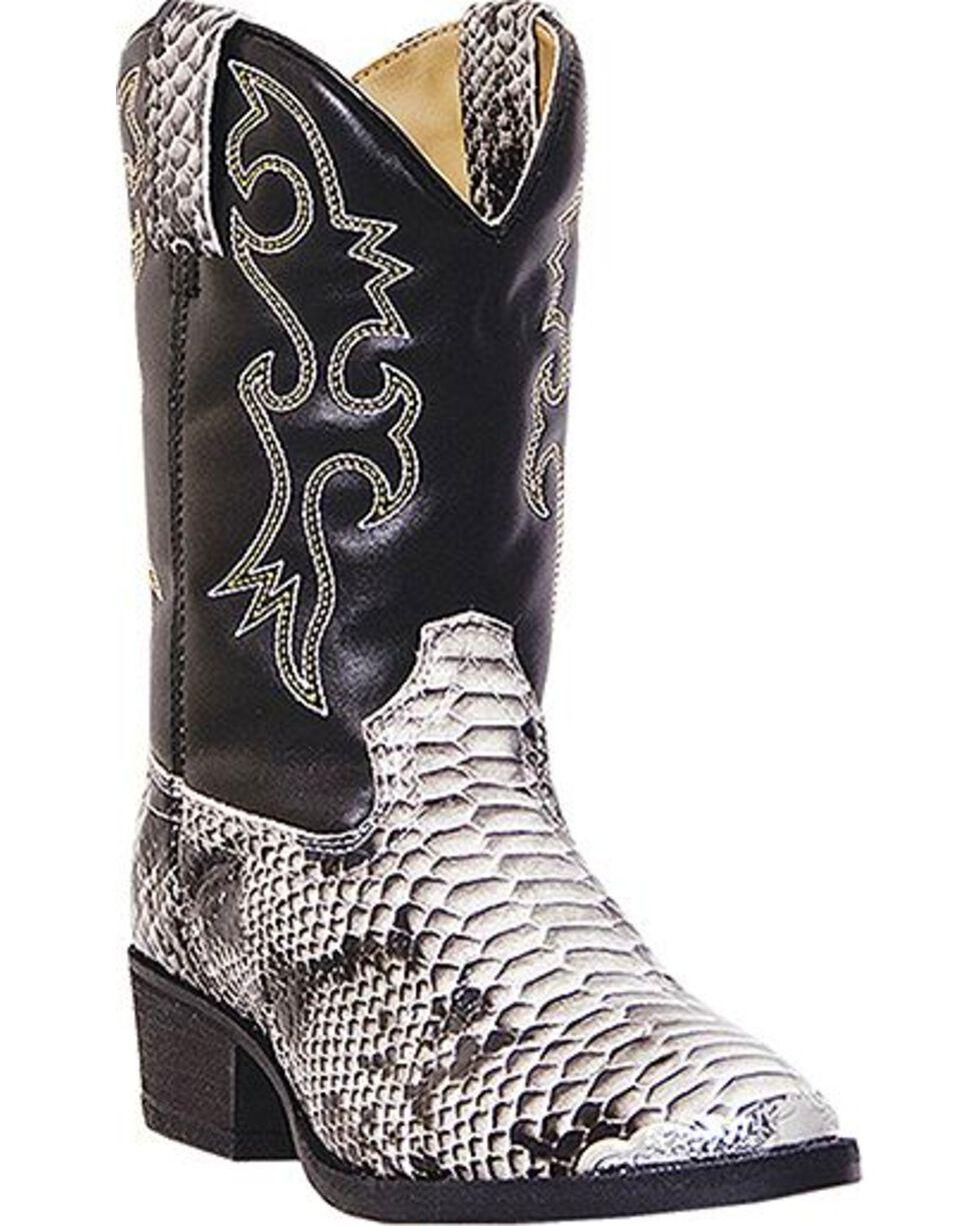 Laredo Youth Snake Pit Print Western Boots, Snake Print, hi-res