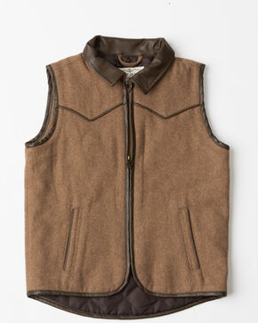 Cody James® Boys' Western Wool Vest, Heather Grey, hi-res