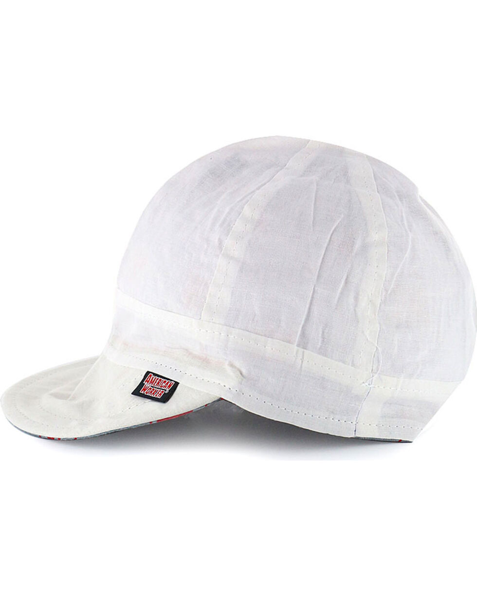 American Worker Men's White Welding Cap, White, hi-res