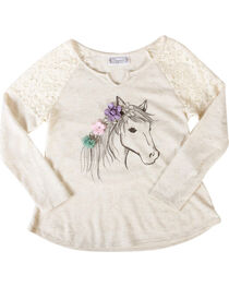 Shyanne® Girls' Dream Pony Long Sleeve Shirt, , hi-res