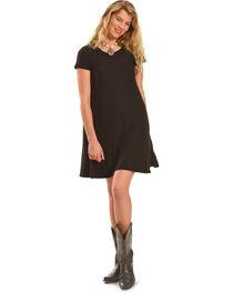 Derek Heart Women's Yara's Yummy Trapeze Black Dress - Plus Size, , hi-res