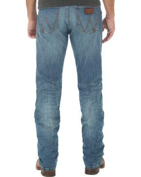 Wrangler Retro Men's Slim Fit Straight Leg Light Wash Jeans - Big and Tall, Indigo, hi-res