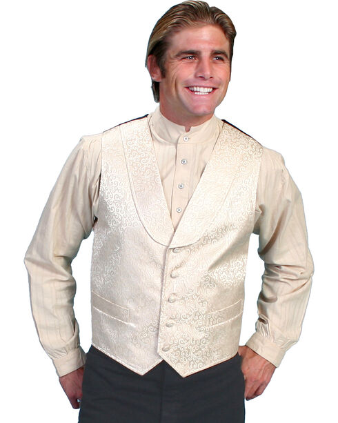 Rangewear by Scully Kirksey Scroll Vest - Big & Tall, Cream, hi-res