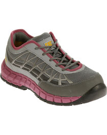 Caterpillar Women's Grey Connexion Work Shoes - Steel Toe , , hi-res