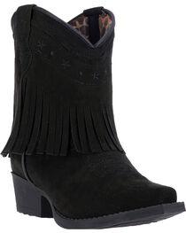 Laredo Girls' Zena Fringe Western Boots, , hi-res