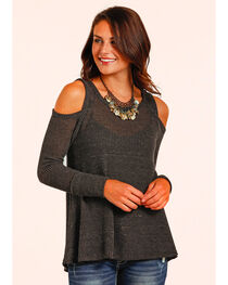 Panhandle Women's Waffle Knit Swing Top , , hi-res