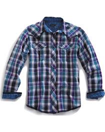 Tin Haul Men's Garage Plaid Snap Western Shirt, , hi-res