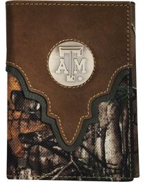 Texas Tech Camo Concho Tri-fold Wallet, , hi-res