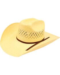 Ariat Men's 10X Maverick Double S Straw Hat, , hi-res