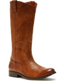 Frye Women's Cognac Melissa Pull On Boots - Round Toe , , hi-res