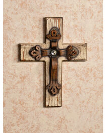 HiEnd Accents Distressed Wood and Bling Cross, , hi-res