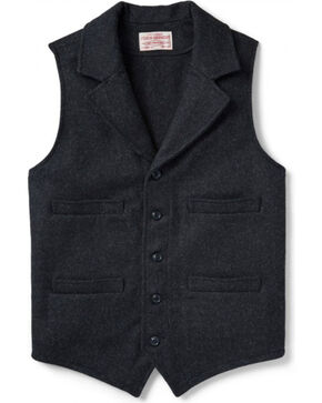 Filson Men's Wool Western Vest, Charcoal, hi-res