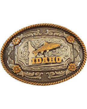 Cody James® Idaho Belt Buckle, Silver, hi-res
