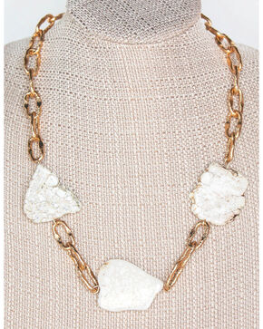 Everlasting Joy Jewelry Women's Cream Piece Of My Heart Necklace , Cream, hi-res