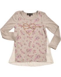 Shyanne Girls' Rope Heart Long Sleeve Shirt    , , hi-res